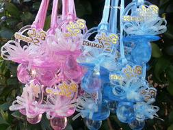 Pacifier Necklaces Baby Shower Games Favors Prizes Pink, Blu