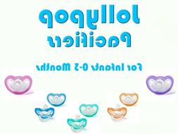 JollyPop Pacifier Pick Your Color &/or Scent Baby Soothie Gu
