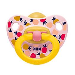 NUK Baby Pacifier 18-36 M Latex Girl Pineapple Pink Soother