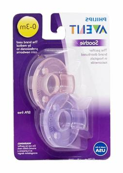 Philips Avent Soothie Pacifier, Pink Purple, 0-3 Months, 2 C