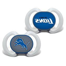 Baby Fanatic 2 Piece Pacifier Set, Detroit Lions