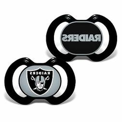 Baby Fanatic 2 Piece Pacifier Set, Oakland Raiders