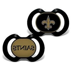 Baby Fanatic 2 Piece Pacifier Set, New Orleans Saints