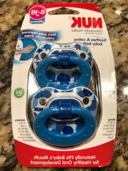 pacifiers 2 pack blue 6 18 months