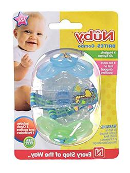 "Nuby ""Brites"" 2-Pack Pacifiers - lime, one size"