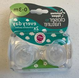 Tommee Tippee Pacifiers CLEAR Orthidontic 0-3 Months Baby Tw