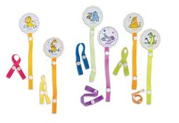 Nuby Pacifinder Clip with Green & Orange Ribbons