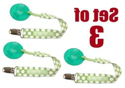 Set of 3 PaciGrip - Universal Pacifier Holder with Clip, tha