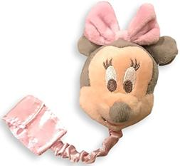 disney parks baby minnie mouse pacifier clip plush new with
