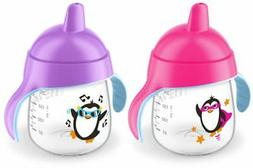 Philips Avent My Penguin Sippy Cup, Pink, 9 Ounce , Stage 2