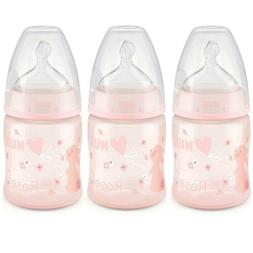 NUK Perfect Fit Baby Bottle, Pink Bunnies, 5oz 3pk