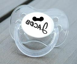 PERSONALISED DUMMY PACIFIER SOOTHER, ALL TEATS,SIZES & COLOU
