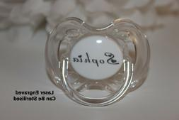 PERSONALISED DUMMY AVENT, PACIFIER, SOOTHER *HEART FONT* CAN