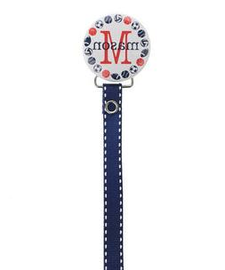 Personalized Name Boys Sports Themed Baby Pacifier Clip