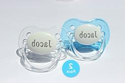 Personalized Pacifier, 2 PACK, Custom Pacifier, Baby Boy Gif