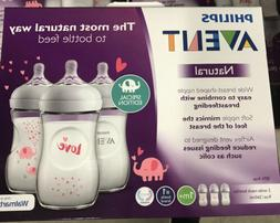 Philips Avent Natural Baby Bottle with Pink Elephant design,