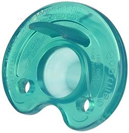 Philips Notched Newborn NICU Soothie Pacifier, Green, 0-3 Mo
