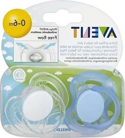 Philips Avent SCF178/23 2-Pack Free Flow Orthodontic Soother