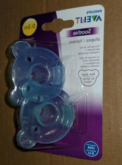 Avent Philips Soothie Bear Shape Pacifier Blue/Green 2 Pack