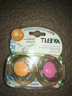 Phillips Avent orthodontic Pacifiers 6-18m