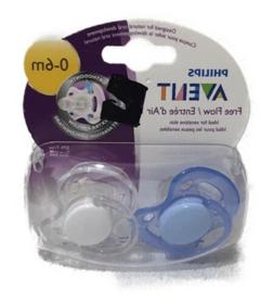 Phillips Avent Pack Of 2 Pacifiers Freeflow 0-6 Months