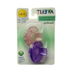 Phillips Avent Soothie Pacifier 0-3 months Pink and Purple 2