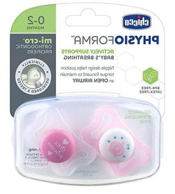 Chicco PhysioForma Micro Orthodontic Pacifiers 0-2 Months