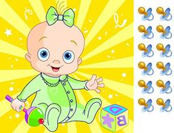Pin the Pacifier on the Baby Gender Neutral Shower Game Part