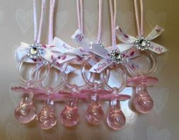 Pink Baby Shower Pacifier keepsake necklace for games 12pcs