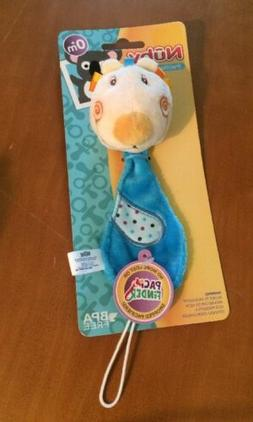 Nuby Plush Pacifinder Pacifier Holder - Plush Rabbit