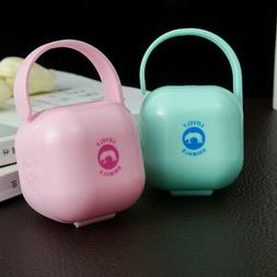 Portable Infant Pacifier Holder Box Baby Nipple Soother Crad