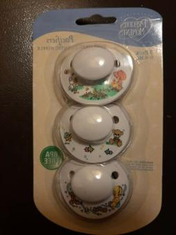 Precious Moments 3 Pack Pacifiers BPA FREE 0-6 Months by Luv