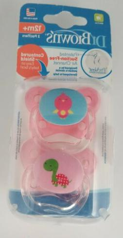 Dr. Brown's 12 Months 2 Pack PreVent Butterfly Pacifier - Gi
