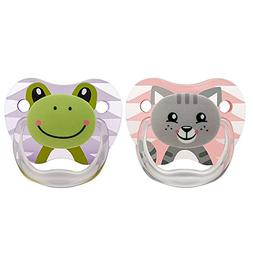 Dr. Brown's Prevent Classic Animal Faces Pacifier, Pink/Purp