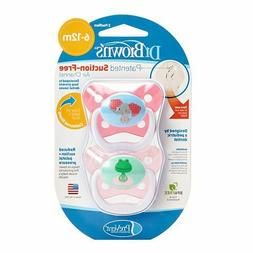 Dr. Brown's PreVent Contour Pacifier, Stage 2 , Polka Dots B