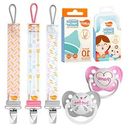 Ulubulu Princess and True Love Designs/Girl Pacifier Clip Co