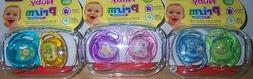Nuby Prism Orthodontic 2 Pk Pacifiers & Case, Baby Shower, D