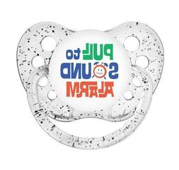 Pull To Sound Alarm Pacifier - Unisex - Glitter Clear - Ulub