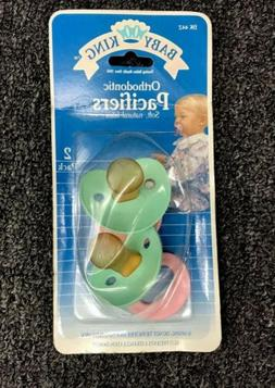 Baby King Rare Vintage 1991 Orthodontic Pacifiers Soft Latex