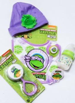 Reborn Baby Teenage Mutant Ninja Turtles Gift Set! Bottle, P