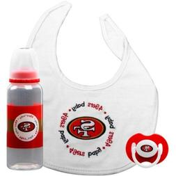 San Francisco 49ers Infant 3-piece Pacifier, Bib & Bottle Gi