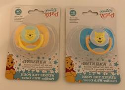 *Set of 2* Disney Baby Pacifiers with Covers ~Winnie The Poo