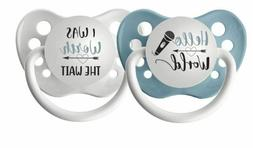Set of 2 Boys Pacifiers - Hello World & I Was Worth the Wait