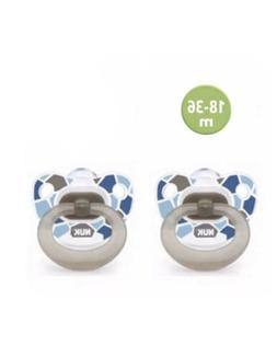 Set of 2 Brand New NUK Orthodontic BPA Free Silicone Pacifie