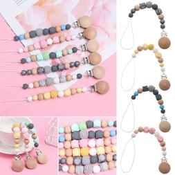Silicone Baby Nipple Clasps Pacifier Clip Chain Dummy Holder