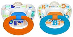 NUK Silicone Baby Talk Puller Pacifier, 0-6 Months
