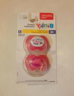 Playtex Silicone Binky Pacifiers, Babies, 6+ Months - 2 Pack