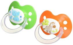 Playtex Silicone Orthodontic Binky Pacifiers, Babies, 6+ Mon