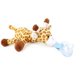 Zooawa Baby Pacifier, Giraffe Pacifier Holder with Detachabl