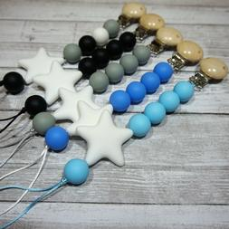 Silicone Pacifier Clip - for Teething babies, lovely baby Bo